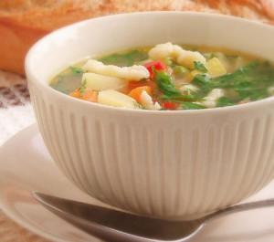 Вегетарианский суп с клецками.