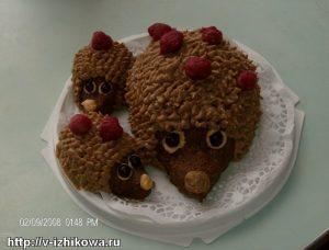 """Детский торт """"Ёжики"""""""
