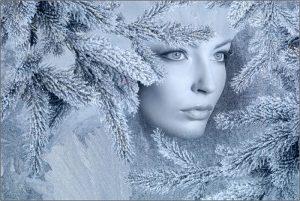 Красота в зимнюю стужу.