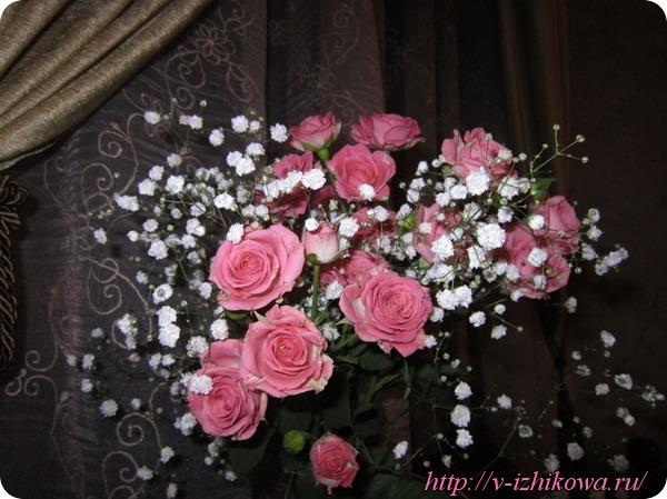 Цветы и женщина